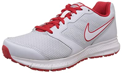 Nike Men's Down-Shifter Pure Platinum, White and University Red Running  Shoes -8