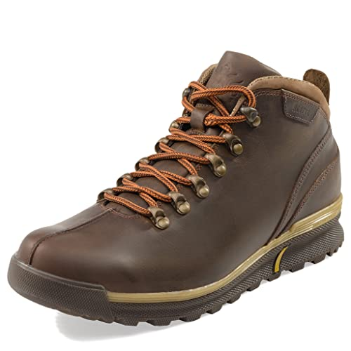 c37399ac1fe MIDA Men's Winter Boots 12210: Leather and Fur Snow Shoes, Abrasion  Resistant, Non-Slip OC System Sole, Safety Ice Footwear, Warm and  Comfortable