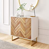Nathan James Enloe Accent Cabinet (White/Gold)
