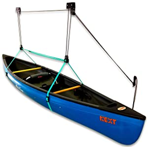 StoreYourBoard Canoe Ceiling Storage Hoist, Hi Lift Home and Garage Hanging Pulley Rack