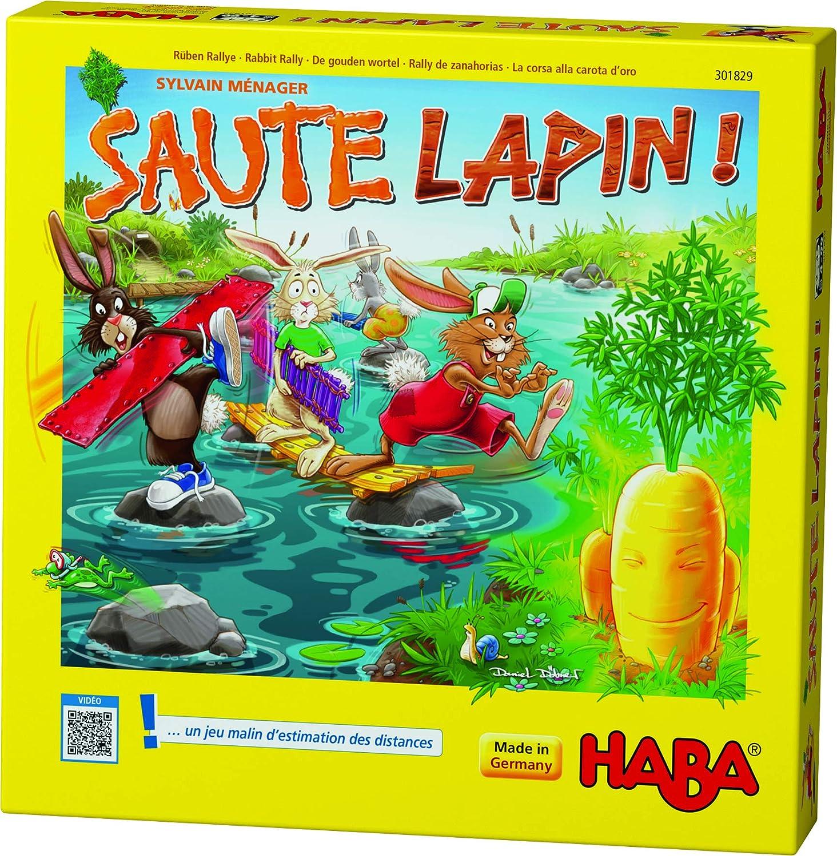 HABA 301829 - Salte de Conejo – Un Divertido y Estimulante Juego de adivinetas para niños a Partir de 4 años (Fabricado en Alemania): Amazon.es: Juguetes y juegos