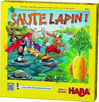 Haba 301829 Saute Lapin Un Jeu De Devinettes Amusant Et Stimulant Pour Les 4 Ans Et Plus Fabrique En Allemagne Amazon Fr Jeux Et Jouets