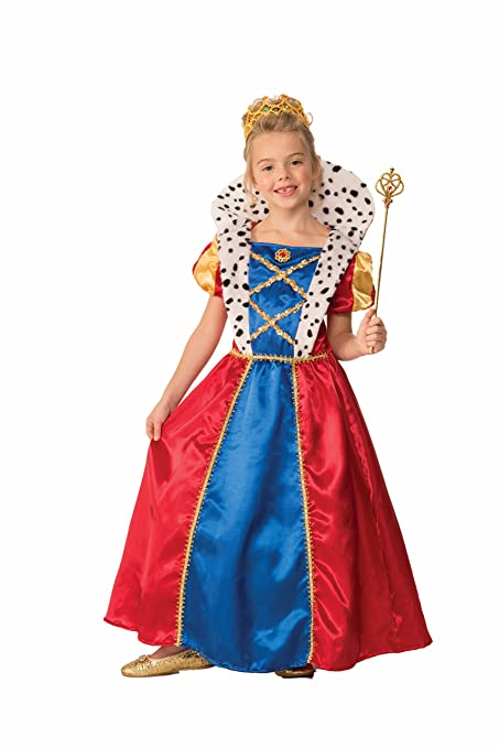 Forum Novelties Girls Royal Queen Costume, Multicolor, Large