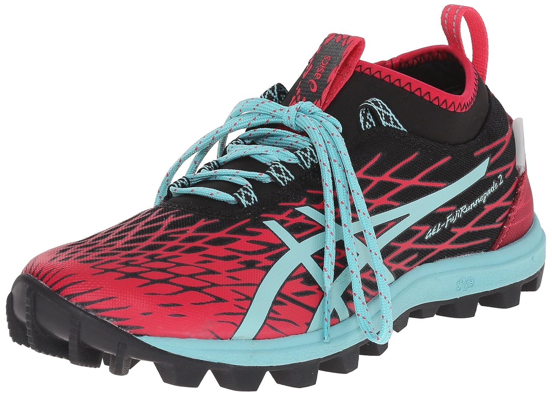 ASICS Women's Gel-Fuji Runnegade 2 Running Shoe B00YDH206S 5 B(M) US|Black/Pool Blue/Azalea