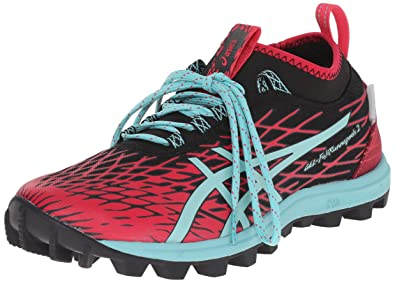 ASICS Women's Gel-Fuji Runnegade 2 Running Shoe, Black/Pool Blue/Azalea