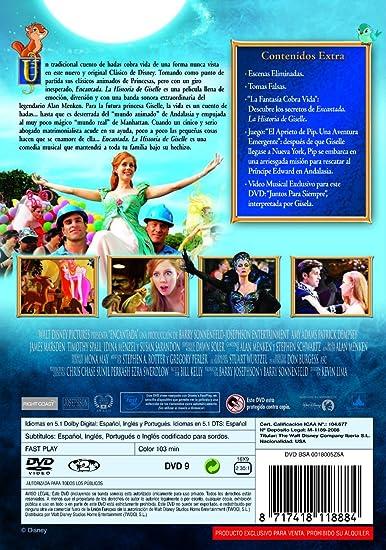 Encantada: La historia de Giselle [DVD]: Amazon.es: Amy Adams, James Marsden, Timothy Spall, Patrick Dempsey, Kevin Lima, Amy Adams, James Marsden: Cine y Series TV