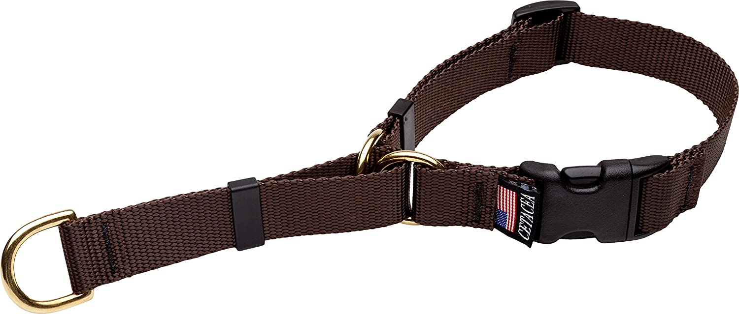 Cetacea Soft Martingale Collar, Small, Brown