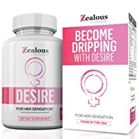 Desire Female Enhancement Pills – 5X Natural Mood Booster for Women - Increase Energy, Vitality, Reduce Dryness, Balance Hormones, PMS and Menopause Relief - 60 Caps