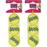 KONG Air Dog Squeakair Dog Toy Tennis Balls, Medium, 6-Balls