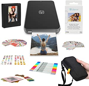 Lifeprint 2x3 Ultra Slim Printer Portable Photo and Video Printer for iPhone and Android (Black) Gift Bundle