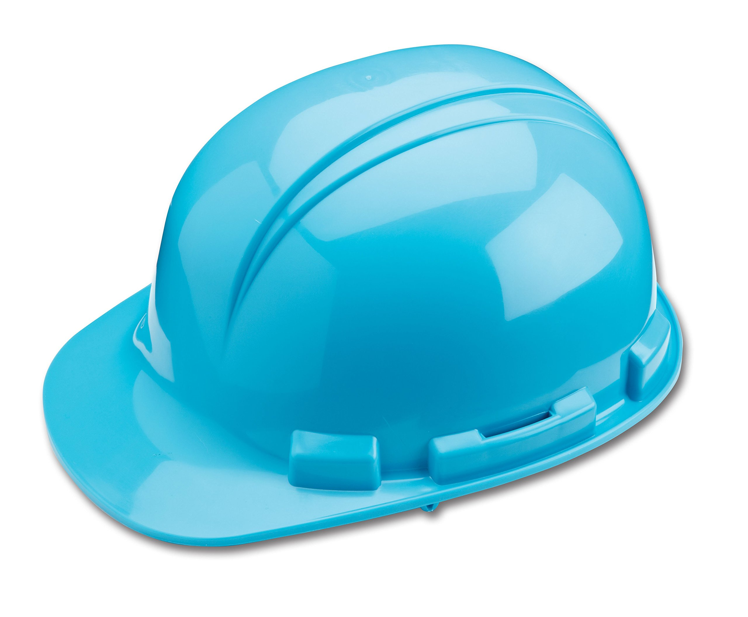 Dynamic Safety HP241/06 Whistler Hard Hat with 4-Point Nylon Suspension and Pin Lock Adjustment, ANSI Type I, One Size, Light Blue by Dynamic Safety (Image #1)
