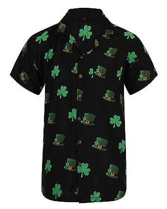 1bec15f5 Hawaiian Shirt Saint Patrick's Day St Patricks Ireland Irish Clover Leaf  Mens Loud Aloha Dublin Hawaii