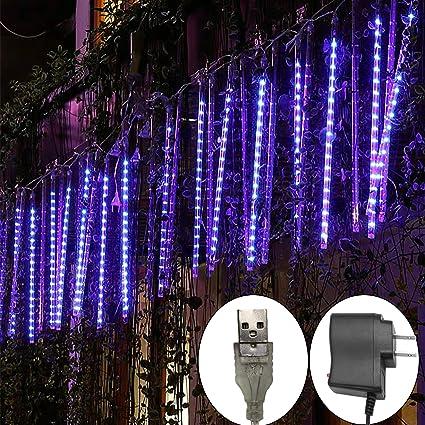 Amazon.com: Guirnalda de luces LED para lluvia de meteoros ...