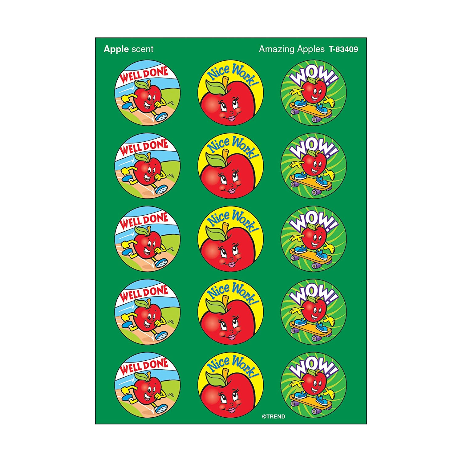 Trend Amazing Apples Smelly Stickers (Apple Scented) by Trend TREND ENTERPRISES INC. T-83409