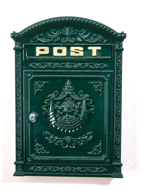 Nostalgie Briefkasten Letterbox Grau Briefkasten Antik Postkasten Vintage Guss
