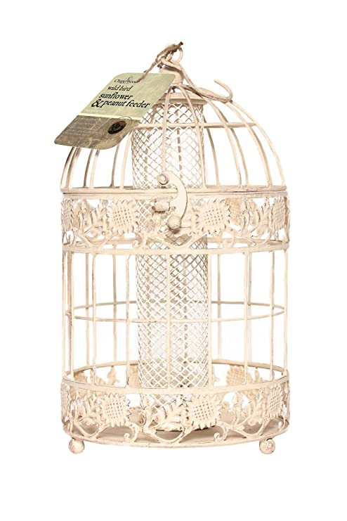 Chapelwood - Jaula con alimento para pájaros, imitación de diseño ...