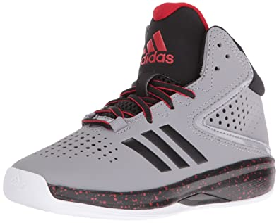 adidas Boys' Cross 'Em up 2016 Wide Basketball Shoe, Light Onix/Black