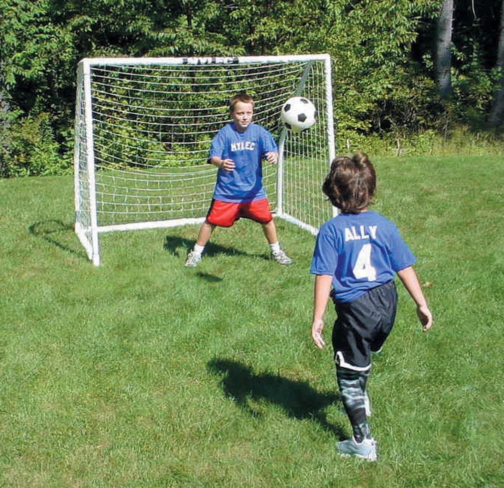 amazon com mylec deluxe soccer goal white 72