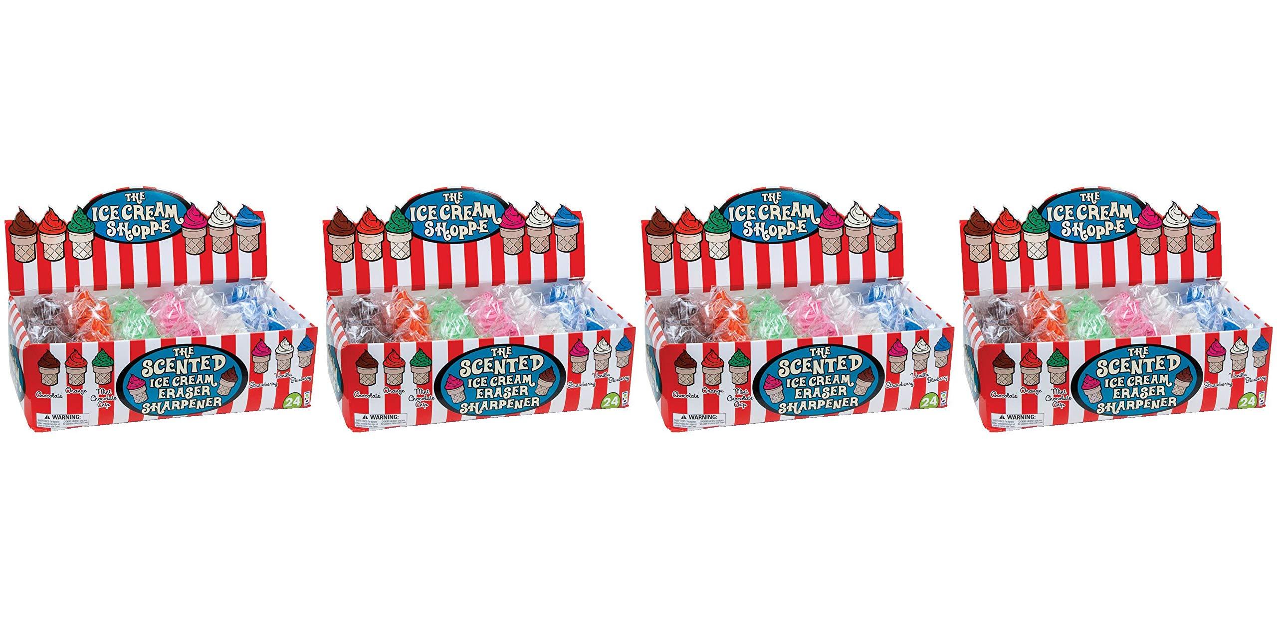 Raymond Geddes Ice Cream Shoppe Scented Eraser with Pencil Sharpener, 24 Pack (68662) (Fоur Paсk) by Raymond Geddes