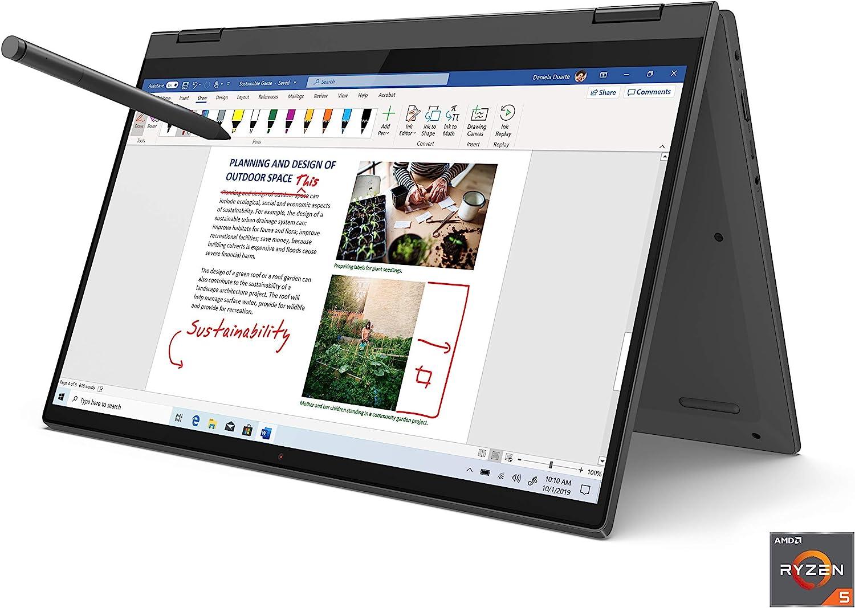 """Newest Lenovo Flex 5 14"""" FHD IPS Touchscreen Premium 2-in-1 Laptop, AMD 4th Gen Ryzen 5 4500U, 16GB RAM, 512GB PCIe SSD, Backlit Keyboard, Fingerprint Reader, Digital Pen Included, Windows 10"""