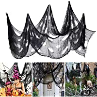 Ollny Halloween Creepy Cloth 80 x 200 in, Scary Gauze Doorways Spooky Giant Tapestry for Halloween Party Supplies…