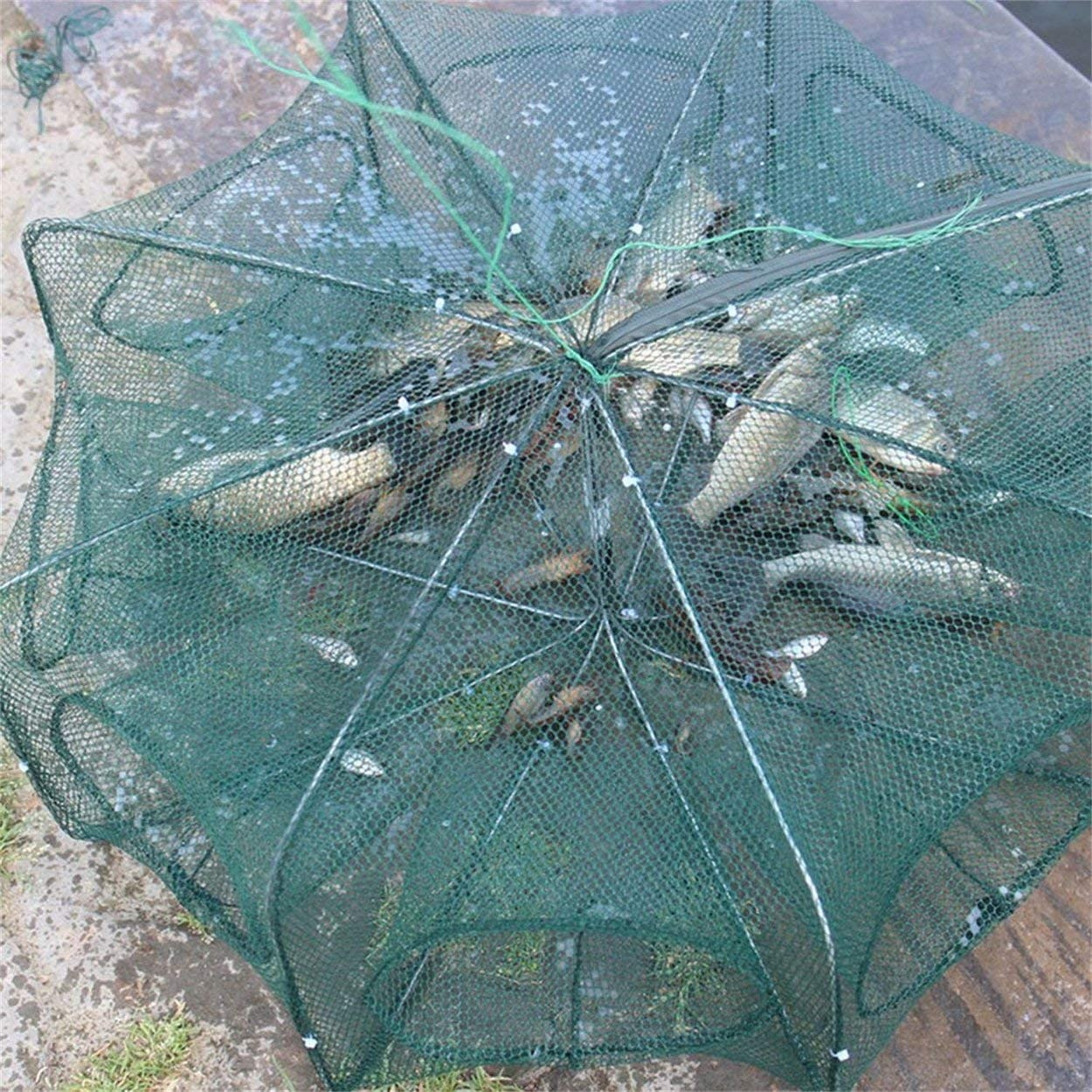 Foldable Design Fishing Net Shrimp Cage Fishing Crab Fish Trap Cast Net