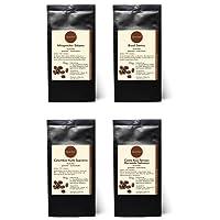4 x Kaffee Geschenkset Probierset - Äthiopischer Sidamo, Brasil Santos, Colombia Huila Supremo, Costa Rica Tarrazu Hacienda Salomon - Röstkaffee Pantagenkaffee - 100 % Arabica Röstkaffee - gemahlen - 4 x 75 g (300 g insgesamt)