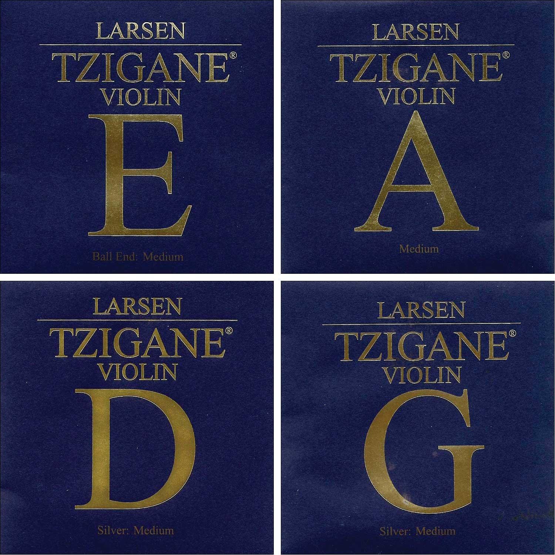 Larsen Tzigane 4/4 Violin String Set - Medium Gauge with Ball-end E Lar-5578
