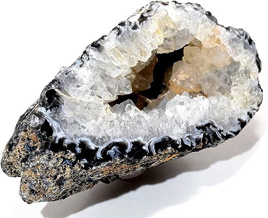 NATURAL Geode Necklace Raw Rock Pendant Crystal HEART HEALER Gemstone STRENGTH