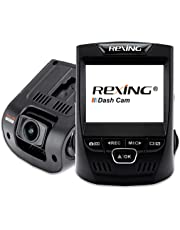 """Rexing V1 Car Dash Cam 2.4"""" LCD FHD 1080p 170° Wide Angle Dashboard Camera Recorder with G-Sensor, WDR, Loop Recording"""