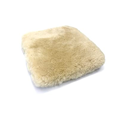 Maxshine Premium Sheepskin Wash Mitt Wool Car Wash Pad Super Soft, High Density, No Scratch and Lint Free Reusable: Home & Kitchen