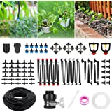 Drip Irrigation Kits, Fixget 43/141ft Garden Irrigation System with Adjustable Automatic Irrigation Set, DIY Plant Watering S