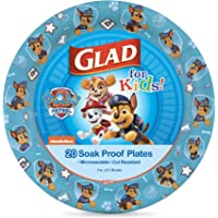 Glad for Kids Paw Patrol Paper Plates Featuring Chase, 20 Count, 7 Inches | Chase from Paw Patrol Plates for Kids…