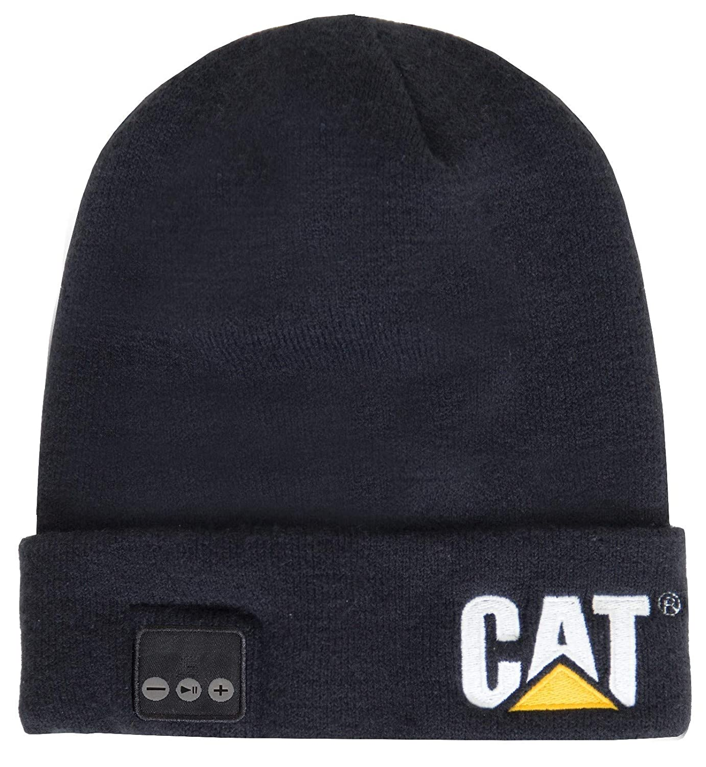 Caterpillar Mens Bluetooth Knitted Embroidered Beanie Hat: Amazon ...