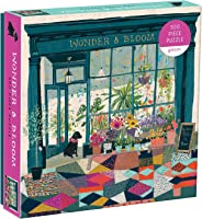 "Galison Wonder & Bloom Puzzle, 500 Pieces, 20""x20"" – Brightly Colored Scene of a Welcoming Local Plant Shop – Challenging, P"