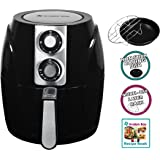 Air Fryer by Avalon Bay, For Healthy Oil-Less Fried Food, 2.65 Quart Capacity, Includes Free Airfryer Baking Set and Recipe Book, Black, AB-Airfryer150B