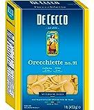 De Cecco Orecchiette No. 91 Pasta 16 Oz. Box