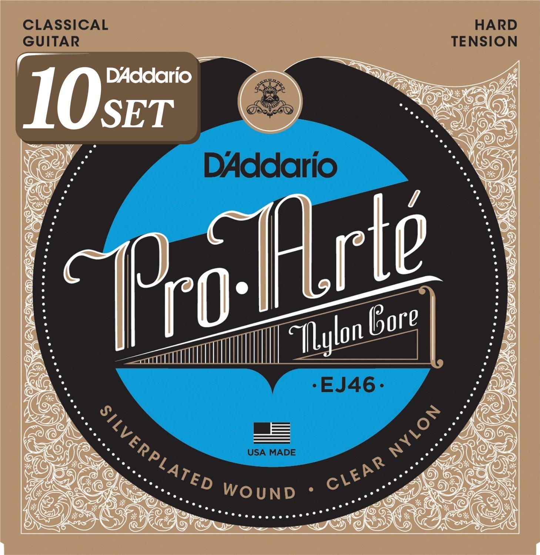 D'Addario ダダリオ クラシックギター弦 プロアルテ Silver/Clear Extra Hard EJ44 x 10セット 【国内正規品】 B009RIJT5I Extra Hard|10セットパックExtra Hard