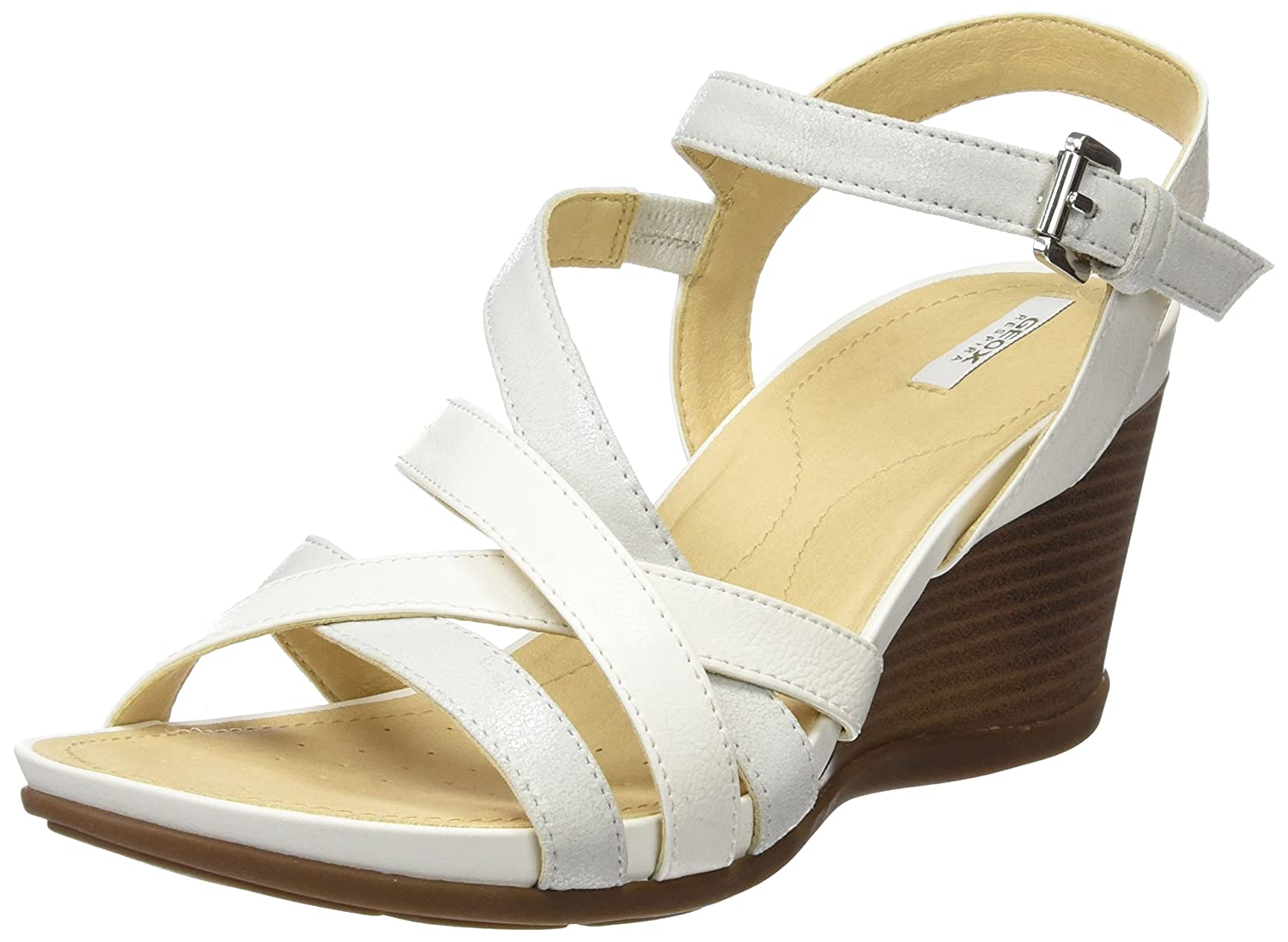White  Platinum Geox Women's D DgoldTHA Fashion Sandals