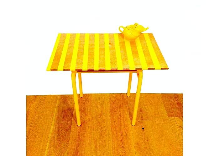 Bureau relooké table décolier jaune: amazon.fr: handmade