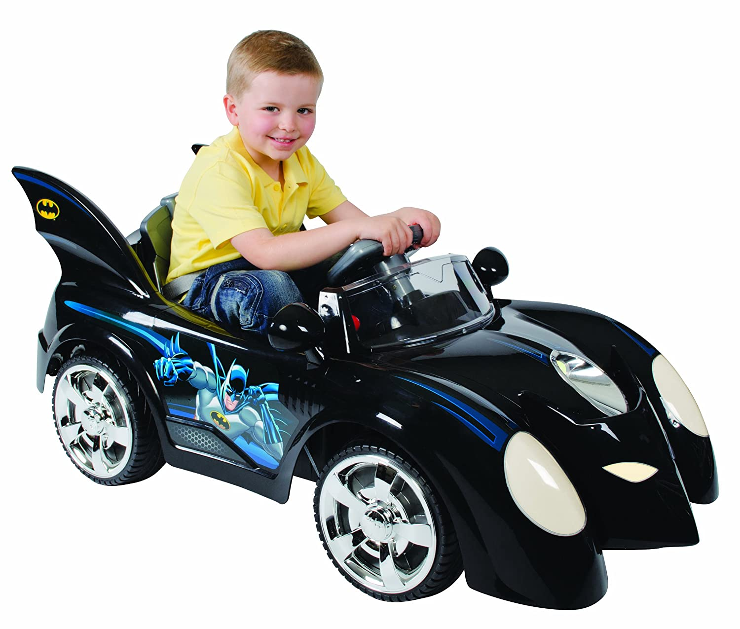 new kids batman batmobile battery powered children ride on outdoor car toy uk amazoncouk toys games
