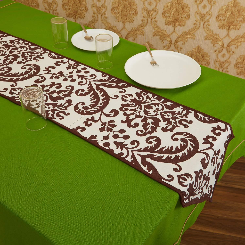 In-Sattva Home ボヘミアンシグネチャープリントテーブルランナーとドレッサースカーフ 家族用 お揃いと普段使い ブラウン  ブラウン B07P93D9SQ