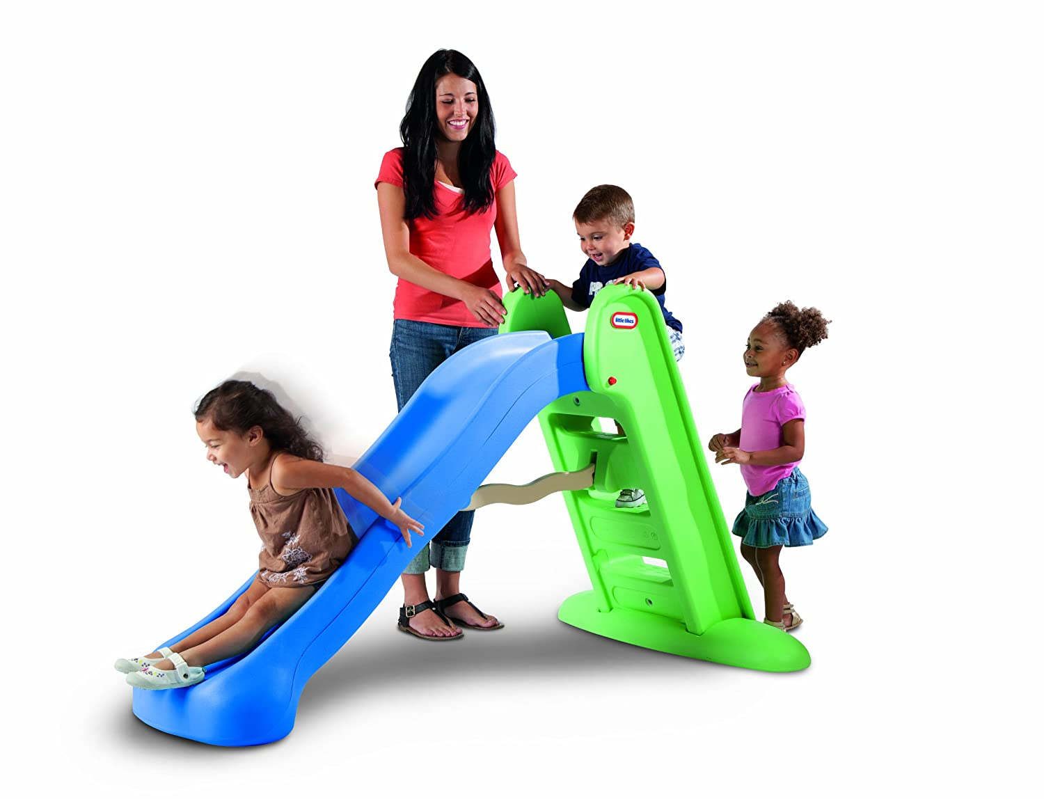 amazon com little tikes easy store large slide toys u0026 games
