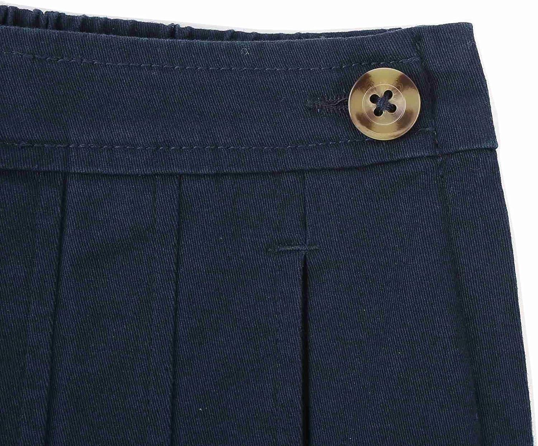 Bienzoe Girls Cotton Stretchy School Uniforms Pleated Skirt