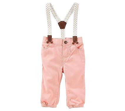 54823b3a01f Amazon.com  OshKosh B Gosh Baby Girls  Suspender Jogger Pants  Clothing