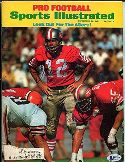0d509da466f Image Unavailable. Image not available for. Color  John Brodie Signed 1971  Sports Illustrated Magazine Autographed 49ers ...