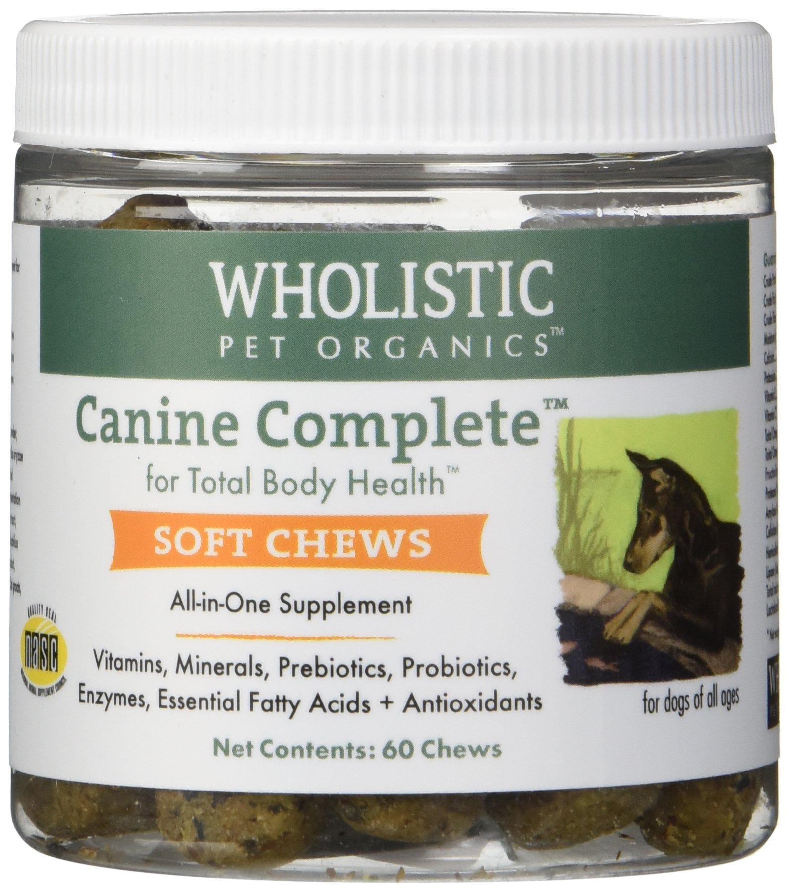 Wholistic Pet Organics 60 Count Canine Complete Soft Chews Supplement