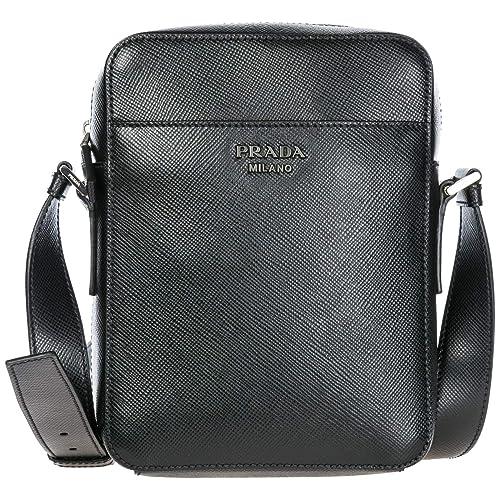 bolso y bandolera en piel hombre con Zapatos Amazon negro nuevo es complementos Prada fPnqdf