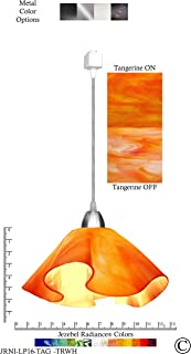 product image for Jezebel Radiance JRNI-LP16-TAG-TRNI Nickel Lily Track Light, Large, Tangerine