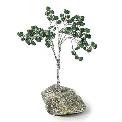 Beverly Oaks Healing Crystals Bonsai Tree ~All Natural Gemstone Tree ~  Money Tree Featuring Healing Stones (Green Mica)